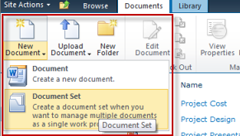 SharePoint 2010: Document sets in een document library
